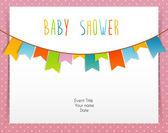 Scheda di bambino doccia — Vettoriale Stock
