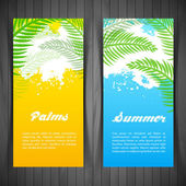 Palm silhouettes card — ストックベクタ