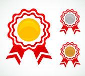 Trzy medale dla nagrody — Wektor stockowy