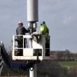 Telecommunication Mast Being Repaired — Stock Photo