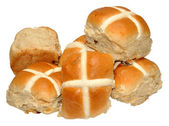 Easter Hot Cross Buns — Stock Photo