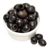 Pitted Black Olives — Stock Photo