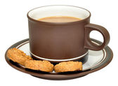 Coffee And Biscuits — Stock Photo