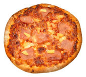 Stone Baked Ham And Pineapple Pizza — Stock Photo