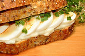 Egg And Cress Sandwich — Stock Photo