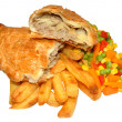 Постер, плакат: Pasty And Chips Meal