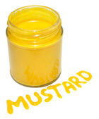 Jar Of English Mustard — Stock Photo