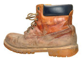 Old Worn Out Work Boot — Stock fotografie