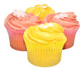 Lemon And Strawberry Flavour Cupcakes — Stock Photo