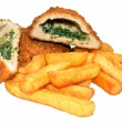 Постер, плакат: Chicken Kiev And Chips