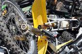 Mucchio di rottami motocicli — Foto Stock