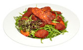 Chorizo Sausage Salad — Stock Photo