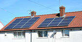 Roof Mounted Solar Panels — Stock Photo
