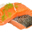 Fresh Raw Salmon Steaks — Stock Photo #45202461