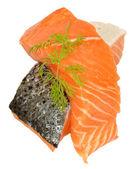 Świeże, surowe steki z łososia — Zdjęcie stockowe