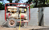 Dirty Old Portable Generator — Stock Photo