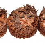 Individual Chocolate Sponge Cakes — Stock Photo