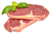 Raw Sirloin Steaks — Stock Photo
