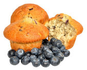 Blueberry Muffins With Fresh Blueberries — 图库照片