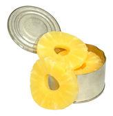 Tinned Pineapple Rings — Stock Photo