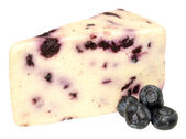 Blueberry White Stilton Cheese — Stock Photo