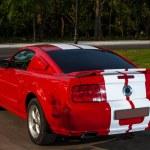 Постер, плакат: Red sport car Mustang