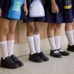 School children standing in a row — Stock Photo #39441501