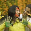 Stock Photo: Women playing Holi