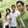 College students walking together — Stock Photo #39442689