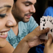 Friends playing cards — Stock Photo #39444511