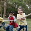 Children pulling rope — Stock Photo #39445257