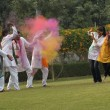 Stock Photo: Friends celebrating Holi