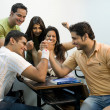 Stock Photo: College students having fun