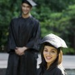 College student at graduation ceremony — Stock Photo