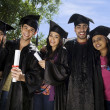 College students at graduation ceremony — Stock Photo