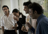People celebrating at the office — Stock Photo