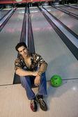 Man på bowling — Stockfoto