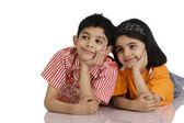 Children thinking — Stock Photo