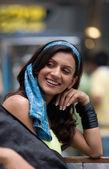 Woman smiling — Stock Photo