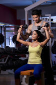 Man and woman training — Foto de Stock