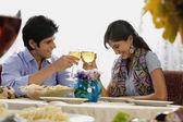 Couple enjoying drink — Stock Photo