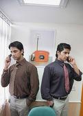 Vedení na telefonu — Stock fotografie