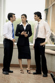 Men and woman in a meeting — Stock Photo