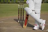 Batsman standing — Stock Photo