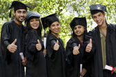 Students graduating — Stock Photo
