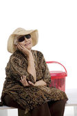 Old woman smiling — Stock Photo