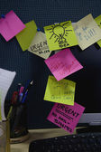 Posted sticky notes — Stock Photo