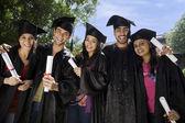 大学生及び短大生の卒業式 — ストック写真