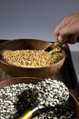 Yellow and brown pulses — Foto de Stock