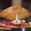 Stock Photo: Traditional poojthali